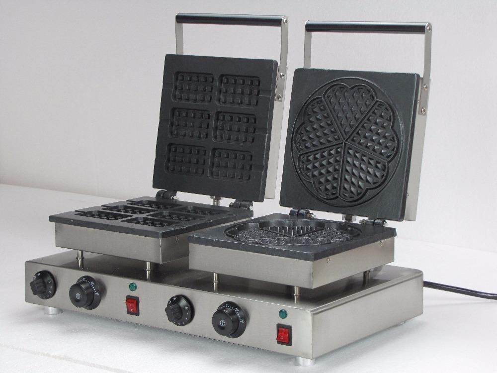 Здесь можно купить  Electric six slices rectangle waffle maker & heart shaped  double waffle baker  Бытовая техника