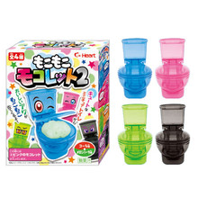 1pcs Amazing Moko Moko Mokolet 2 Candy Toilet Toy Set Japanese Candy In A Toilet DIY Toy Set(China (Mainland))