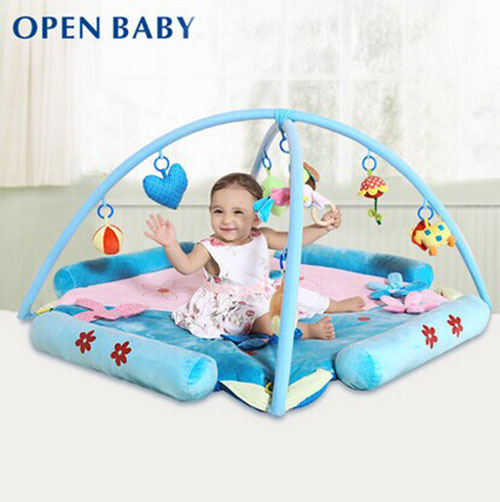Baby Best Activity Gym Soft Blue and Pink Thickening Furry Play Mat Educational Kids Toys Musical Play Game Carpets Mats(China (Mainland))