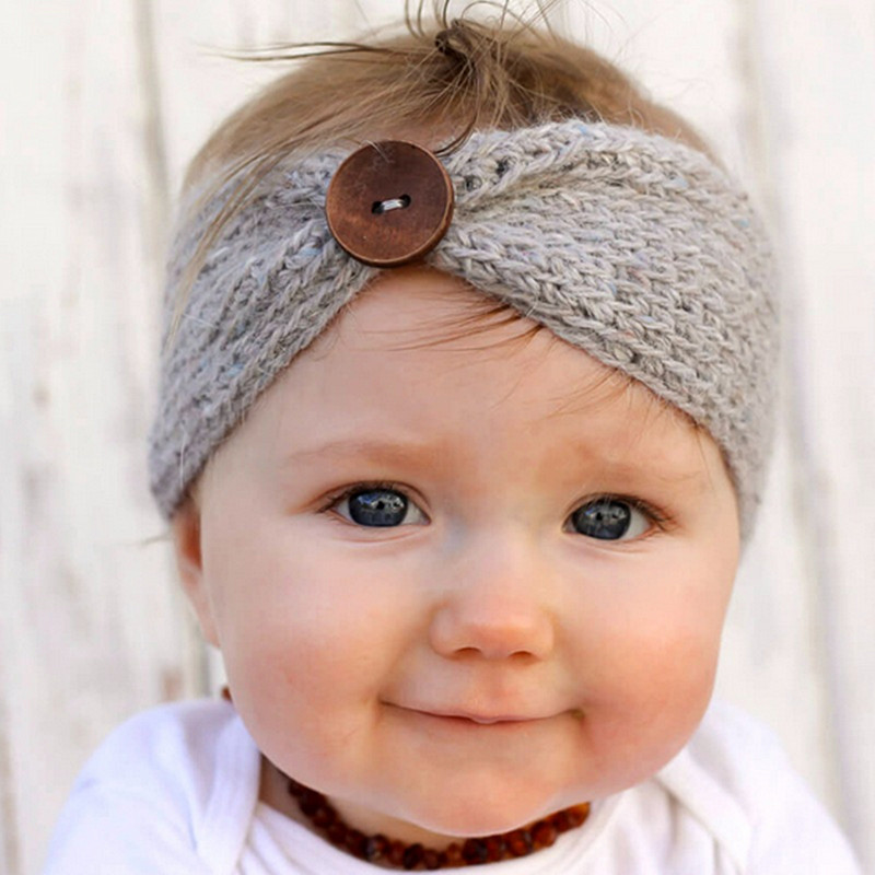 Winter Wool Knitted Turban Headbands for Baby Girls Kids Newborn Head Wrap Headband Headwear Infant Hair Headwrap Accessories(China (Mainland))