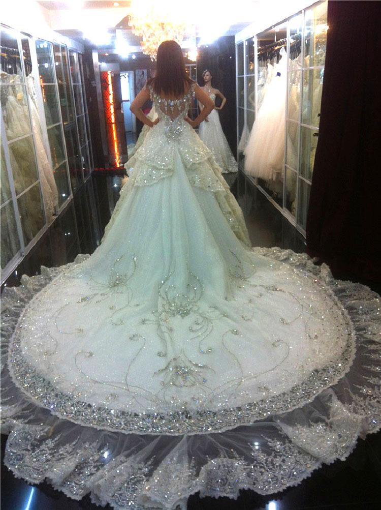 Top Luxury Wedding Dress : Luxury diamond decoration wedding dress tube top bandage from reliable
