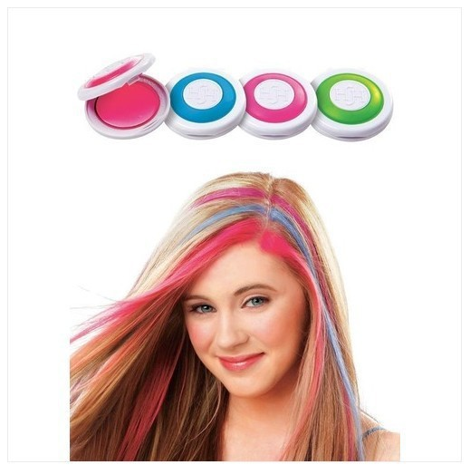 Hot selling 4 Colors/pack Fashion Hot Fast Temporary Pastel Hair Dye Color Disposable Hair Color X1023(China (Mainland))