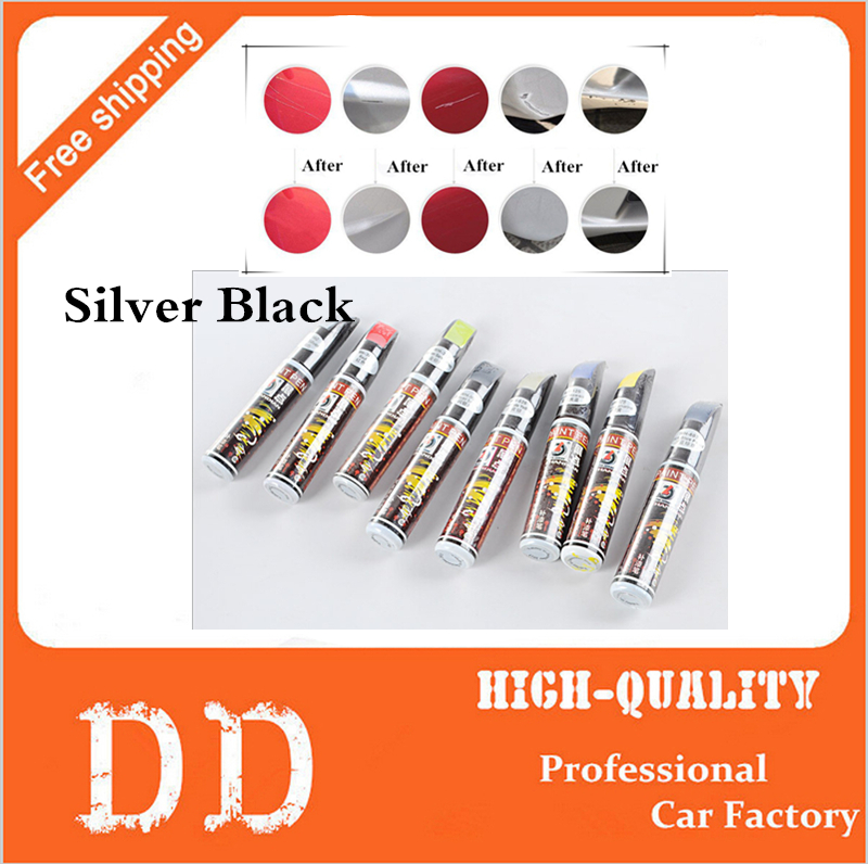 1pc Hot Sale Silver Black 12ml Professional Car Paint Repair Pen New Waterproof Clear Car Scratch Remover Painting Pens(China (Mainland))