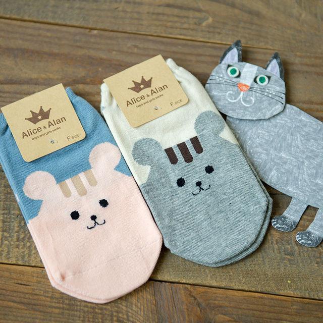 2016 новых корейских новинка хомяк рисунком не показывать носки женщины милые животные мультфильм невидимым носок каваи женские хлопковые носки