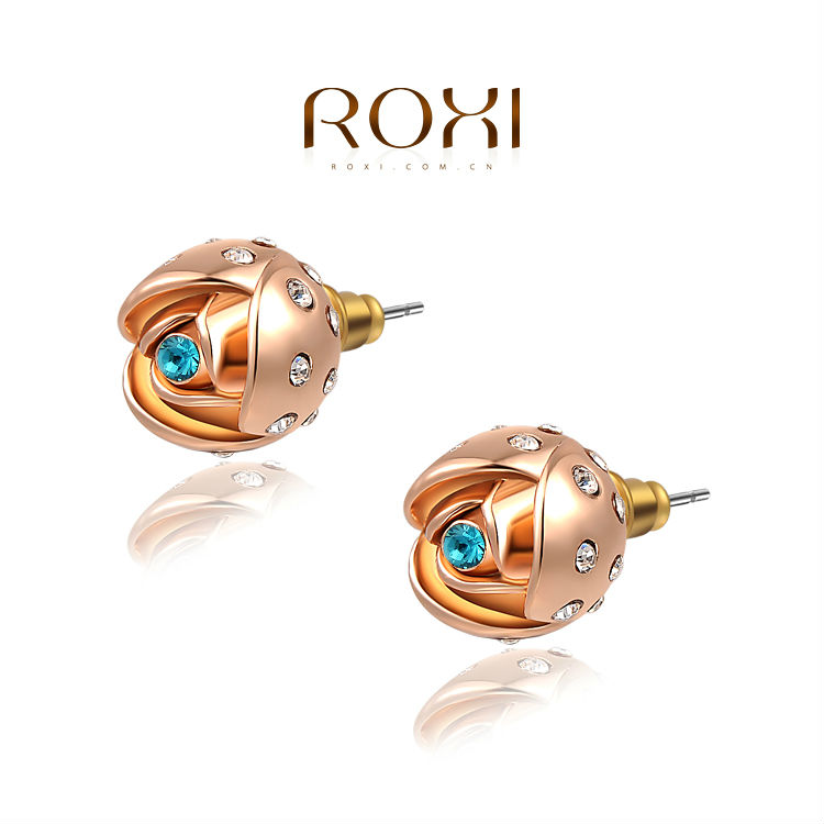 ROXI New Style Fashion Accessories Daisy Flowers Women's Earring Factory Wholesale(China (Mainland))