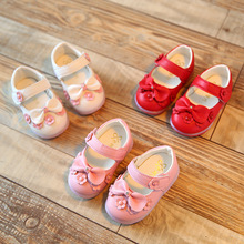 2016 summer shoes 0-1-2 year-old girl Children's shoes baby girls Toddler shoes Flowers and bow lights Z&L242