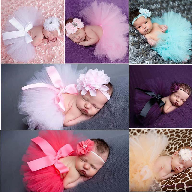 Гаджет  Princess Newborn Tutu and Vintage Headband Newborn Baby Photography Prop Birthday Sets For Baby Girls 1set TS001 None Детские товары