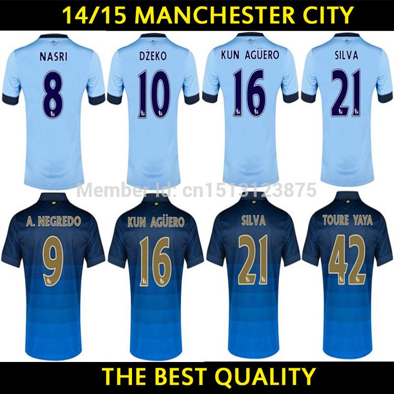 Manchester City jersey Champions leauge LAMPARD TOURE YAYA Aguero KOMPANY home away third UCL manchester City sports jersey(China (Mainland))