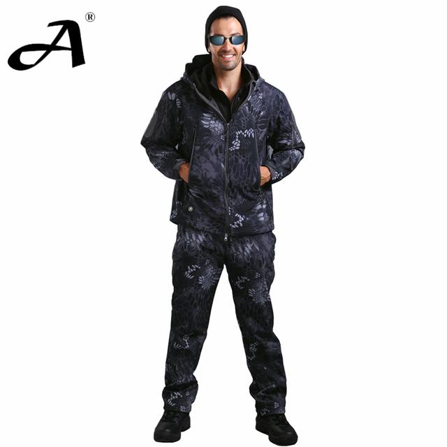 Пальто мужской тактические одежда охота экипировка камуфляж военная одежда плащ для ...