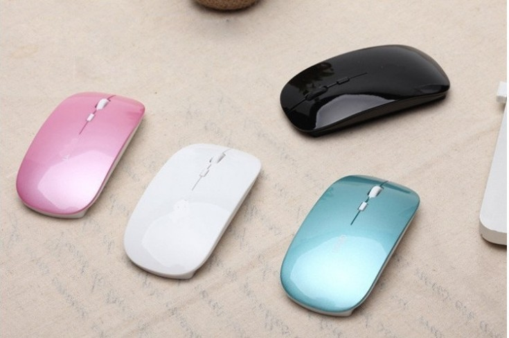 HOT Sale Fashion Super thin 2.4GHz wireless Mouse High Quality 6 Colors for laptops & desktops and tablet pc(China (Mainland))
