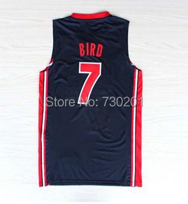 لاري #7 الطيور جيرسي, جيرسي فريق الأحلام, كرة السلة جيرسي الولايات المتحدة الأمريكية 1992 دورة الالعاب الاولمبية, أفضل نوعية, حجم s---- xxxl, قبول النظام المزيج(China (Mainland))