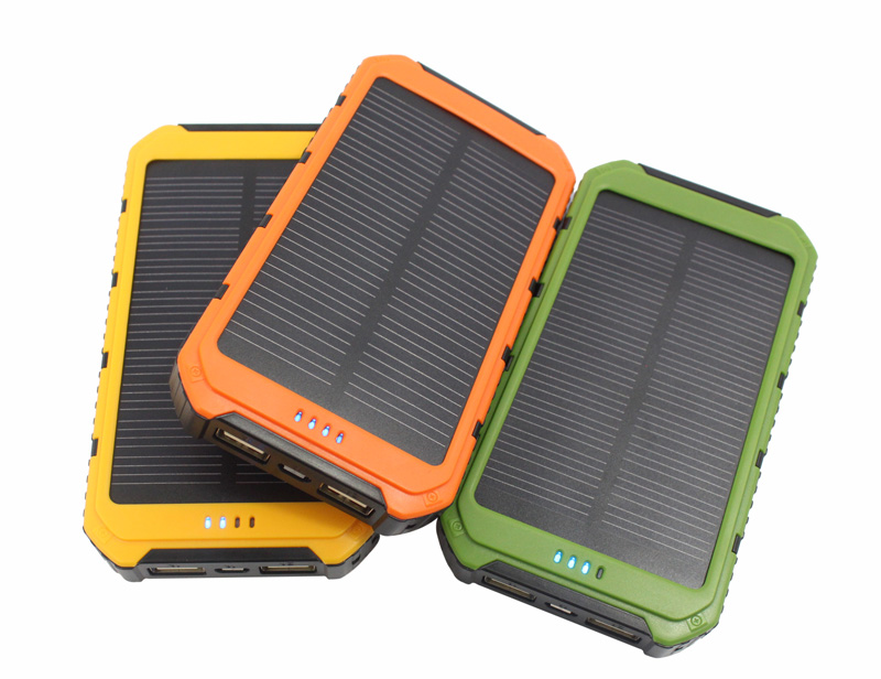New Portable solar power bank Real 10000mAh solar Panel External Battery 2 USB Power Bank Mobile Charger for xiaomi HUAWEI(China (Mainland))
