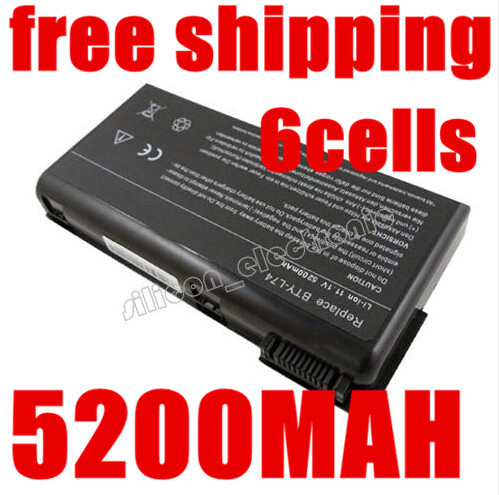 5200mAh laptop Battery For MSI BTY-L74 BTY-L75 A5000 A6000 A6203 A6205 A7200 CR600 CR610 CR610X CR620 CR630 CR700 CX600(China (Mainland))