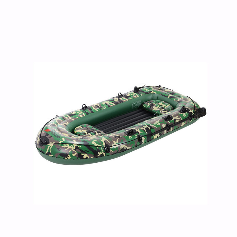 Camouflage green PVC Rubber dinghy inflatable boat thickened network folder kayak four fishing boats cushion for boats(China (Mainland))