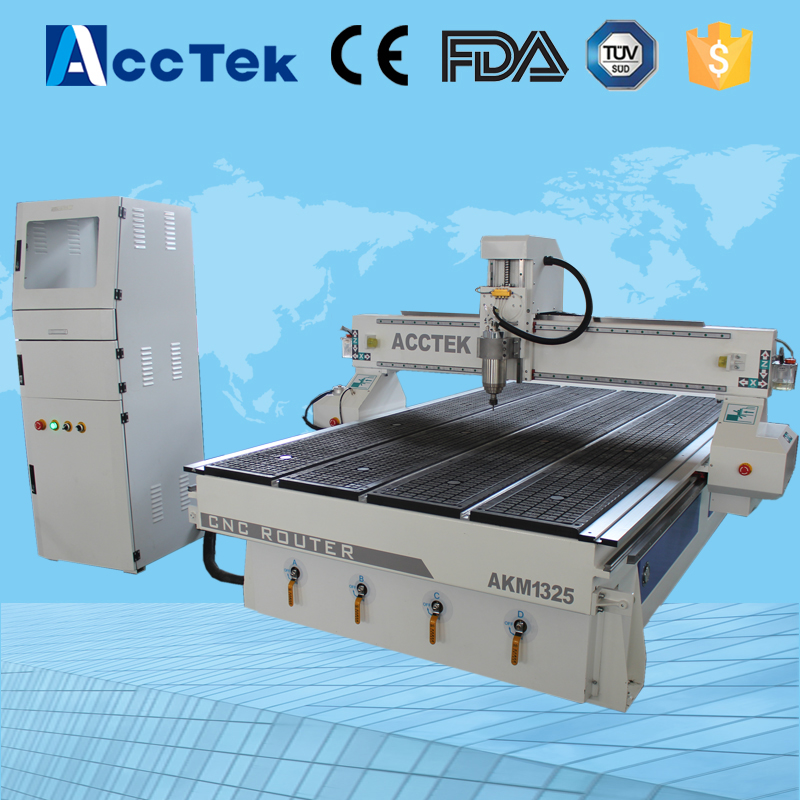 Acctek new heavy duty woodworking cabinet making cnc router 1325 /wood art work cnc engraving machine(China (Mainland))