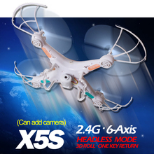 TS X5S 2.4G RC Helicopter 4CH Quadcopter Remote Control Drone With/ without Camera OneKey Return better than Syma X5C X5-1 X5C-1(China (Mainland))