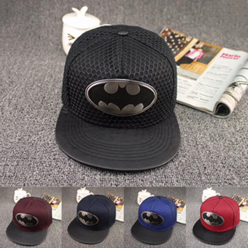Гаджет  Brand New Hot Batman Hats Adjustable Street Skateboard hip hop Baseball cap Falt for men and women Snapback Mesh Summer Style None Одежда и аксессуары