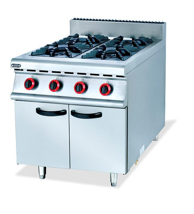 Commercial Four Stand Gas Kitchen Stove Food Frying Stove