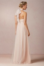 2015 New Listing Halter Floor Length Bridesmaid Dresses Party Gowns