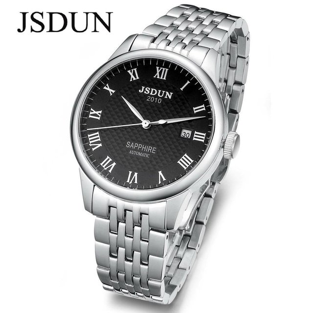 JSDUN Brand Watch for man automatic machine movement men's watches 2012 new design sapphire Water Resistant free shipping 8688