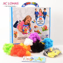 400pcs/Set Assemble 3D Puzzle DIY Puff Ball Squeezed Ball Creative Thorn Ball Clusters Handmade Educational Toys Birthday Gifts(China (Mainland))