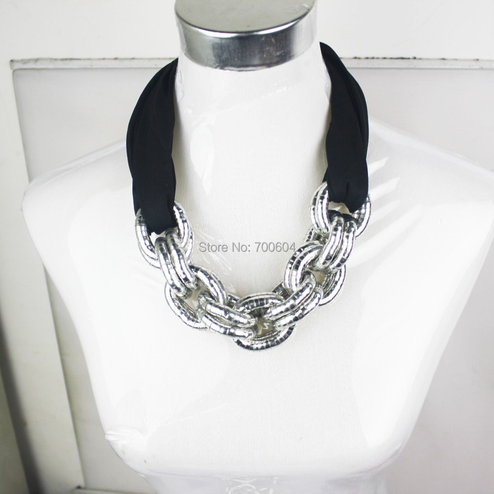 vintage necklace scarves retro punk snake chain fabric jersey collar jewelry woman ladies girls choker short scarf accessories(China (Mainland))