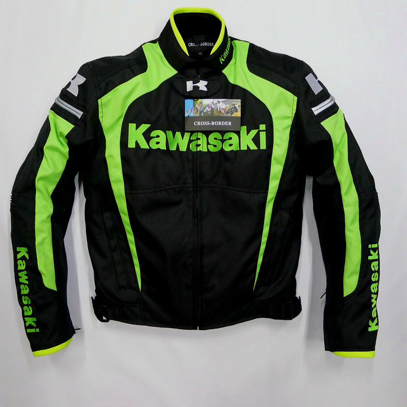 Men racing jacket KAWASAKI winter automobile race clothing motorcycle clothing thermal removable liner flanchard 4 color(China (Mainland))