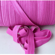 Free shipping ! #183 garden rose 5/8″ (16mm) FOE elastic, solid Fold Over Elastic 50yards/lot, FOE for Headbands