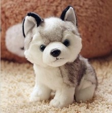Free Shipping 2015 Kawaii 22 CM Simulation Husky Dog Plush Toy Gift For Kids baby toy birthday present Stuffed Plush Toy(China (Mainland))