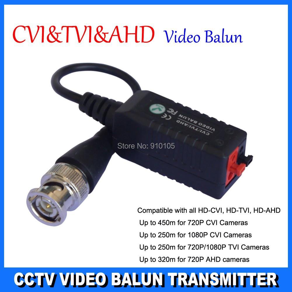 Twisted BNC CCTV Video Balun Passive Transceivers UTP Balun BNC Cat5 CCTV UTP Video Balun 250-450M for HD CVI/TVI/AHD(Hong Kong)
