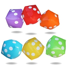 30*30cm Giant Inflatable Air Number Dice Outdoor Beach Toy Party Garden Game Children Toys(China (Mainland))