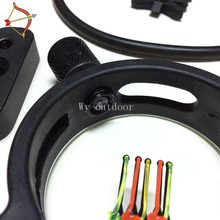6 in1set UPGRADE KIT COMPOUND BOW STABILIZER OPTIC SIGHT ARROW Rest Peep Free Shipping