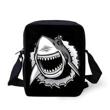 Nopersonality מגניב הדפסת בעלי החיים כריש תרמיל סט עבור בית ספר ילדי בני בנות ייחודי תלמיד ילדי Bagpack Mohila ספר תיק(China)