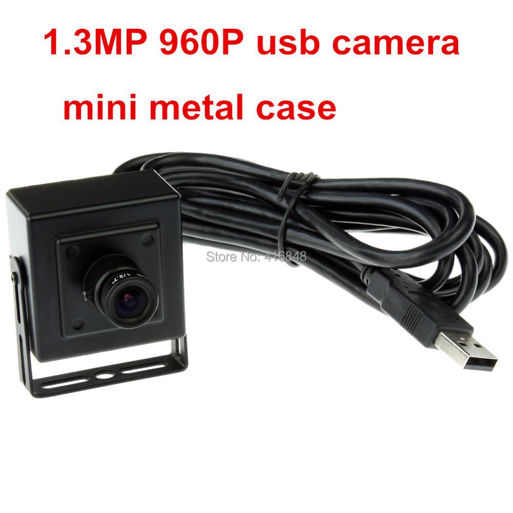 1.3MP 960P HD 2.8mm lens low illumination 0.01Lux 1/3 CMOS Aptina AR0130 best mini box usb computer camera