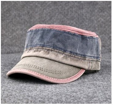 Men's and women's military flat hat outdoor British style baseball cap 7color 1pcs free shipping(China (Mainland))