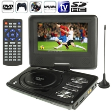 Ns-789 7.0 pulgadas pantalla TFT LCD Digital Multimedia Portable EVD / DVD lector de tarjetas puertos USB TV analógica juegos 270 Degree rotación(China (Mainland))