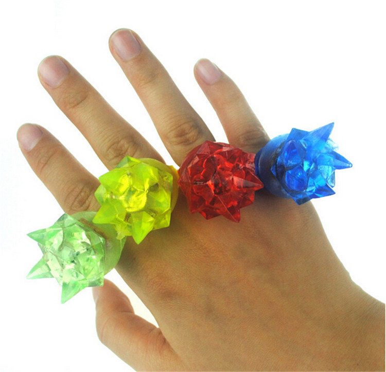 50pcs/lot Soft flashing crown finger ring rubber led finger lights glowing in the dark halloween party supplies light up toys(China (Mainland))