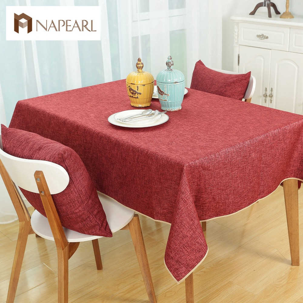 free shipping fashion linen cotton dining tablecloth for dining room