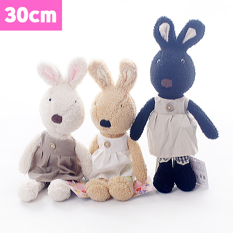 Original Le sucre 30cm kawaii Rabbit plush toys High-quality bunny kids toys Changing clothes Stuffed doll for children gifts(China (Mainland))