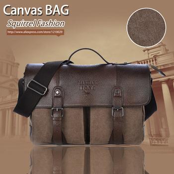 Белка высокая качества брезент крышка бизнес платье мужчины портфель сумка-мессенджер ...