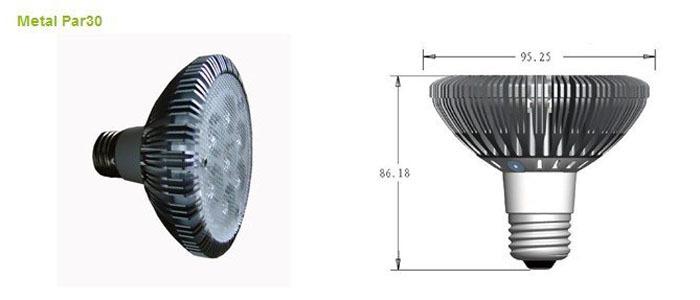 LED spot light lamps the spotlight lights LED 3W Par30 LED Parlighting(China (Mainland))