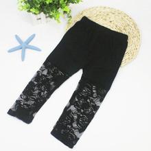 Children Girls Capris Ballet Dance Lace Modal Cropped Capris Pants 2 7Y