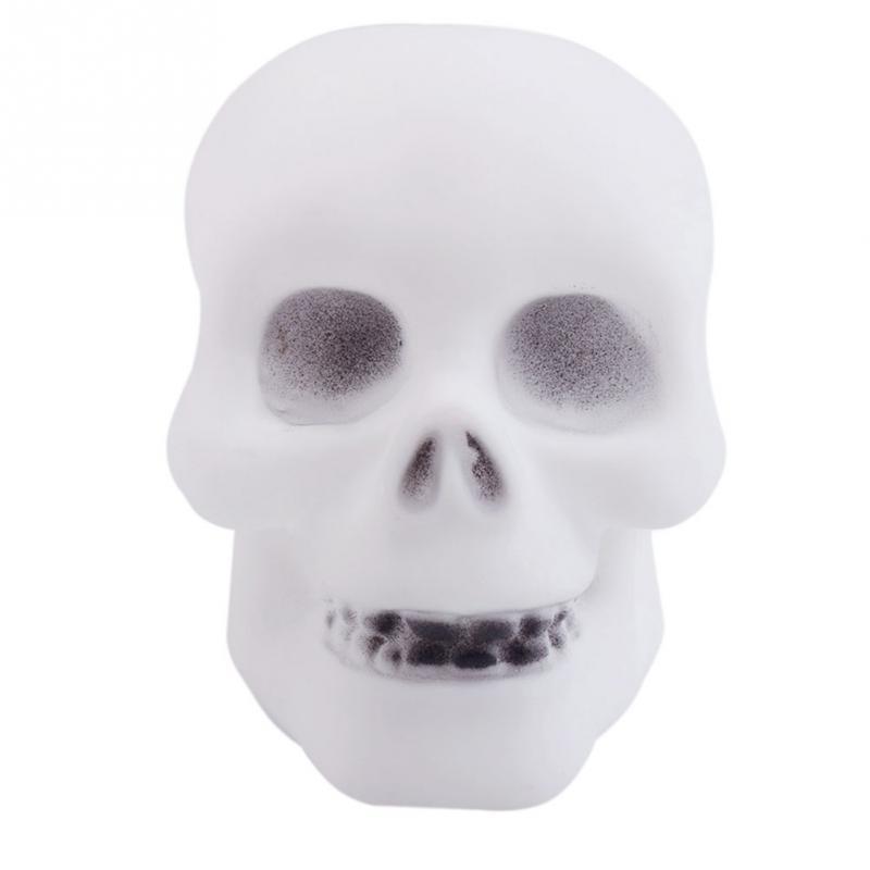 Hot Creative Halloween Colorful Flash LED Skull Shape Night Light Lamp Decoration Gift Favor<br><br>Aliexpress