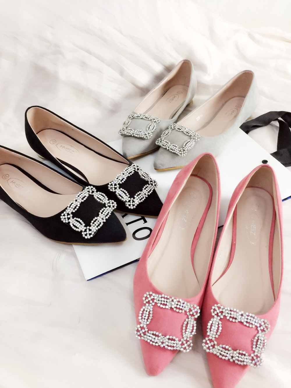 Flat shoes in the spring of 2015 the new all match fashion women shoes diamond wedding