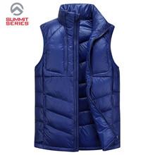 2015 New winter vest men duck down vest male brand face logo soft waterproof winter outwear colete  masculino chaleco hombre(China (Mainland))