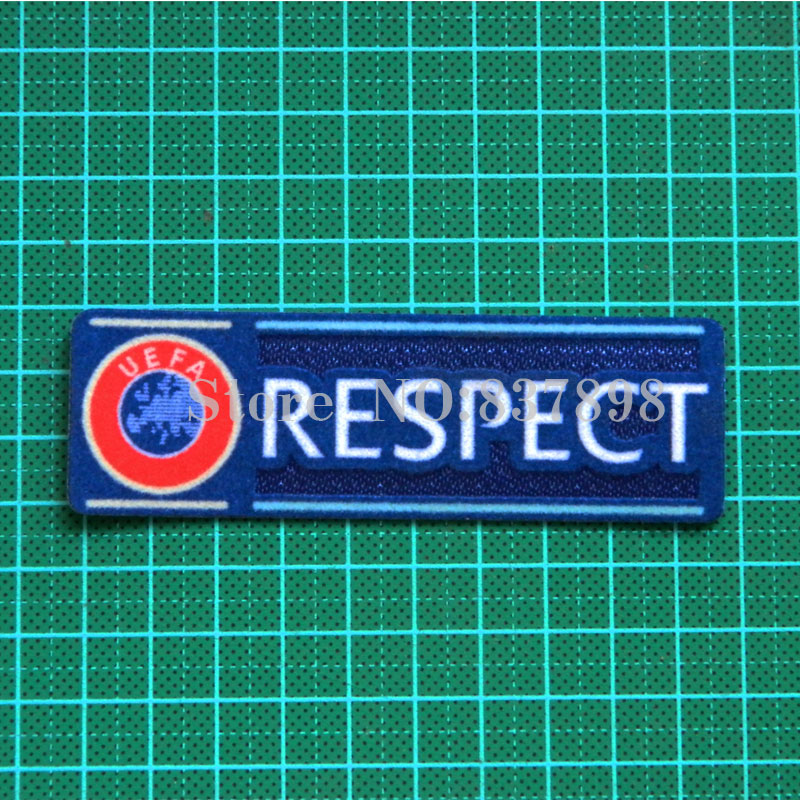 Champion League respect Soccer patch badges Cashmere material(China (Mainland))