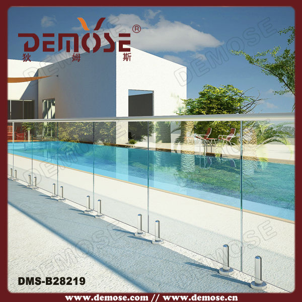 Floor Mounted Tempered Glass Fence Panels China Mainland