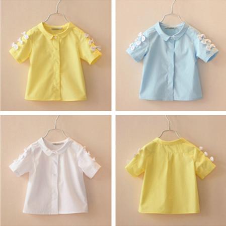 Новая коллекция весна лето девочка блузки для детей рубашки