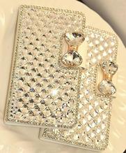 Bow Bowknot Crystal Diamond Bling Leather Cover Case Capa Funda Samsung Galaxy J5 J7 J2 J3 J1 2016 S7 Edge S6 s6 - Gizmo Gallary store