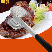 UzeQu Stainless Steel Beef Meat Hammer Loose Meat Steak Meat Hammer Smashing Meat Tenderizer Pounders Kitchen Tools(China (Mainland))